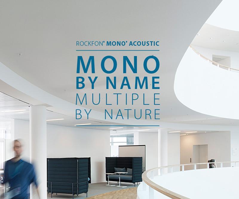 Rockfon ha lanzado el nuevo sistema Rockfon Mono Acoustic.