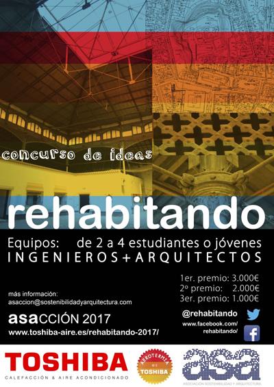 """ASA y Toshiba han abierto el plazo de inscripción para el concurso """"REhabitando""""."""