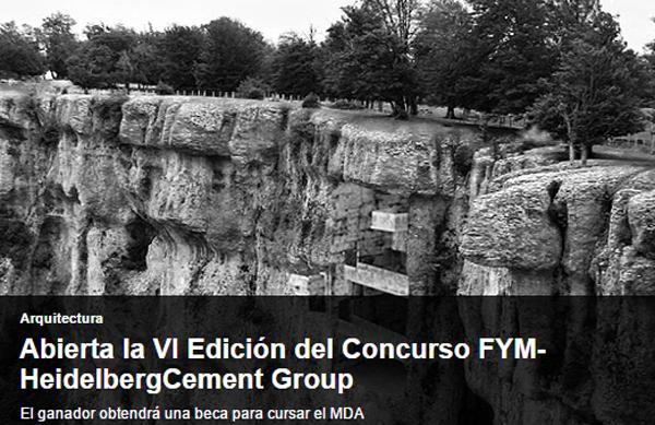 FYM-HeidelbergCement Group ha abierto el plazo de inscripción de la VI edición de su concurso.