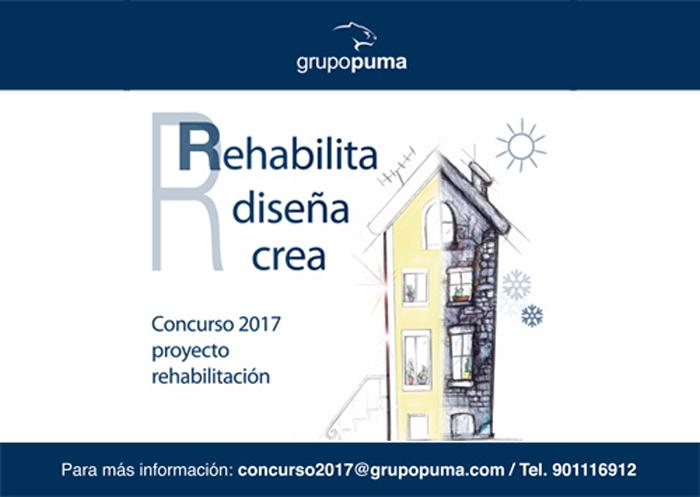 Grupo Puma ha abierto el plazo de inscripción para su concurso técnico: rehabilita, diseña y crea.