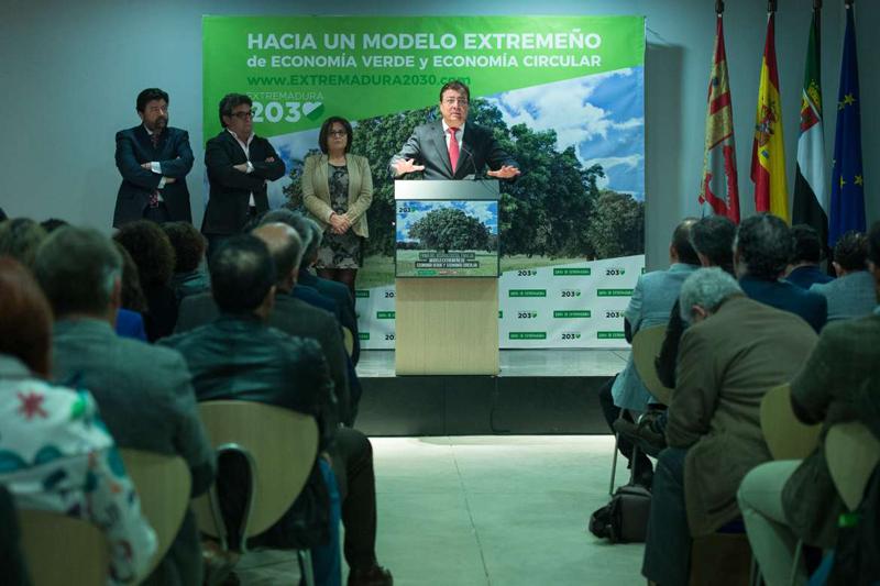 Firmado un acuerdo en la Junta de Extremadura para la construcción de una Estrategia de Economía Verde y Circular.