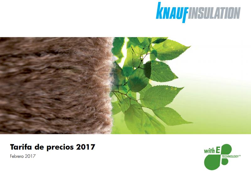 Knauf ha presentado la nueva tarifa de precios 2017.
