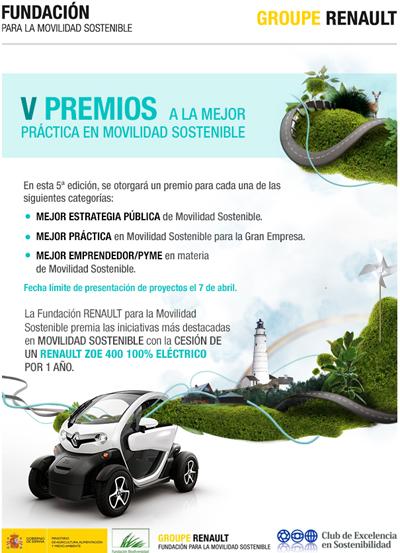Convocada la V edición de los Premios a la mejor práctica en Movilidad Sostenible.