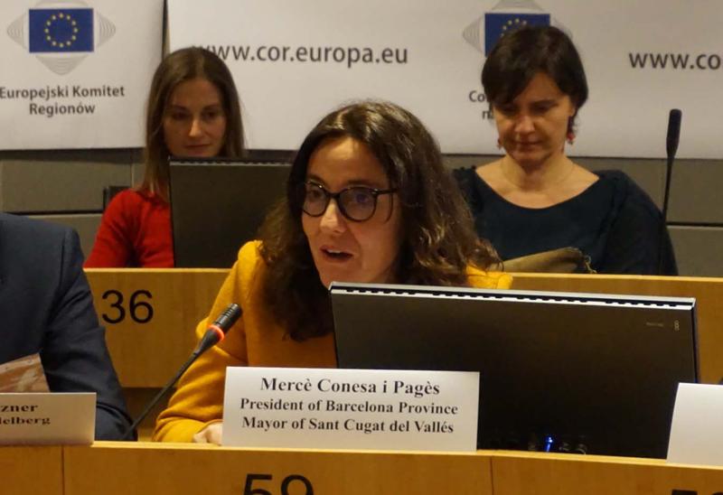 Mercè Conesa ha participado en el Consejo Europeo del Pacto de Alcaldes para el clima y la energía.