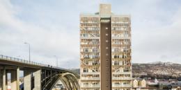 Un Edificio Sostenible de gran altura con madera prefabricada en Noruega