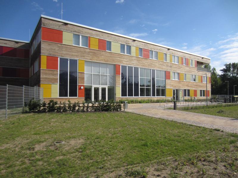 El edificio se calienta a través de los sistemas de ventilación.