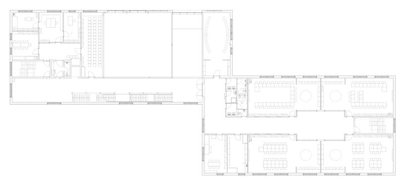 La envolvente del edificio fue diseñadapara ser altamente aislante.