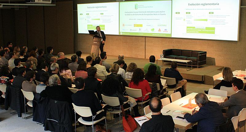 Luis Vega del Ministerio de Fomento durante su intervención en la introducción al VII Workshop EECN.