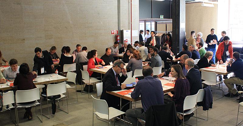 Organización de las Mesas de trabajo durante el Workshop EECN.