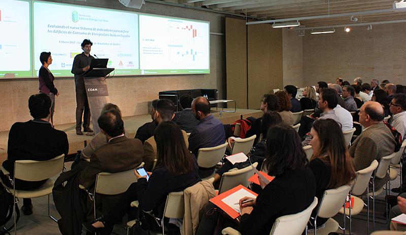 Representantes del IETcc durante su intervención en el VII Workshop EECN.
