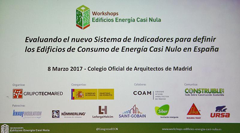 Workshop Edificios Energía Casi Nula celebrado en COAM.