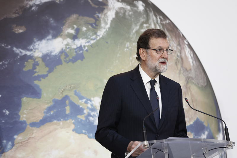 Mariano Rajoy durante el acto.