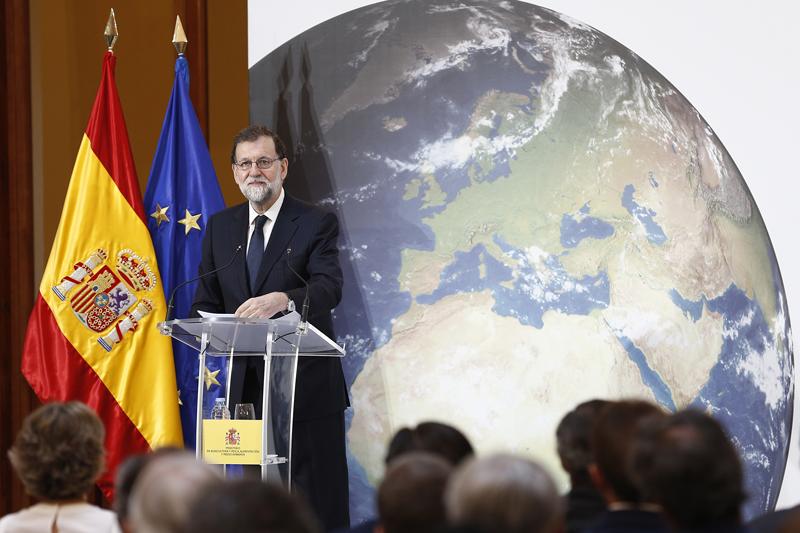 """Mariano Rajoy, durante la inauguración de las Jornadas de Debate """"España, Juntos por el Clima""""."""