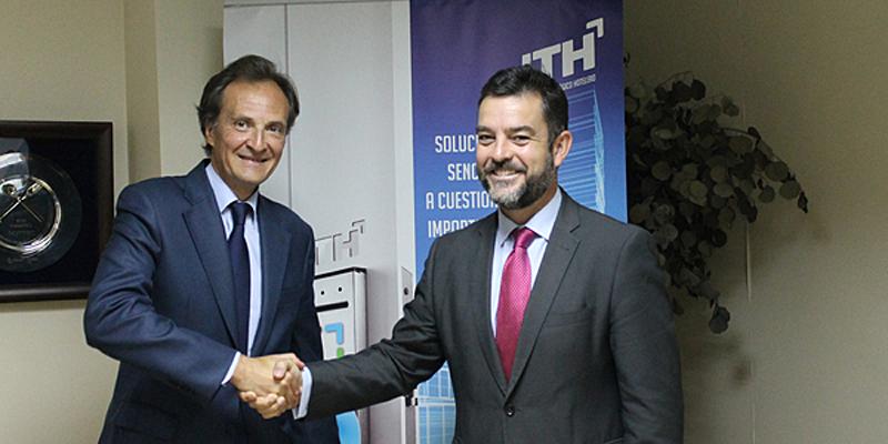 Firmaron la adhesión Luis Mateo, director general de ANDIMAT, y Álvaro Carrillo de Albornoz, director general de ITH.