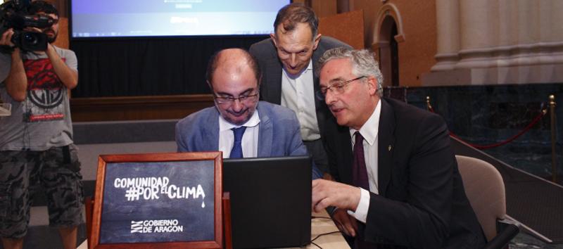 Javier Lambán yJoaquín Olona han hecho pública la adhesión del Gobierno de Aragón a la Comunidad #PorElClima.
