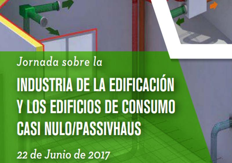 """El próximo 22 de juniose celebraráuna jornada sobre """"Industria de la edificación y Passivhaus""""."""