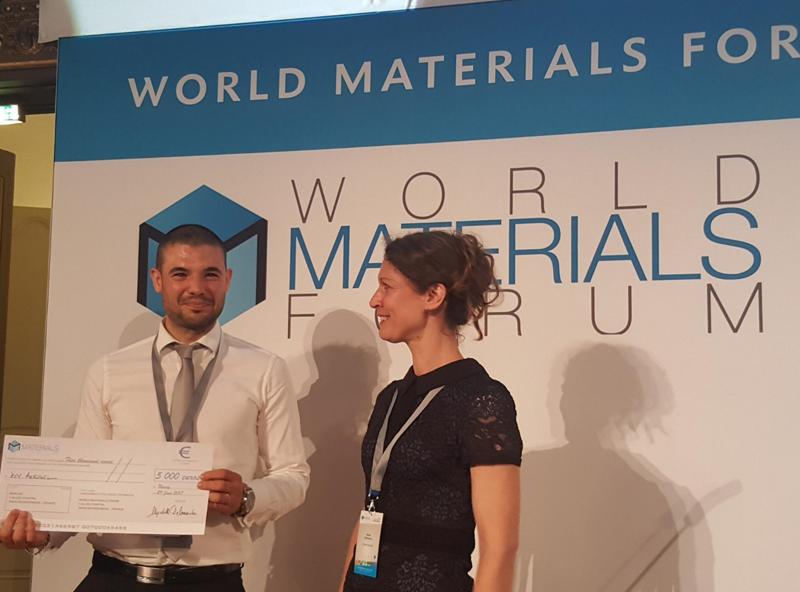 El premio se enmarca en la tercera edición del World Materials Forum.