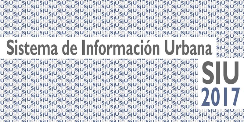 Sistema de Información Urbana (SIU) 2017.
