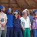Los alumnos del curso de Bioconstrucción de Lizaso levantan un Edificio con forma de caracol