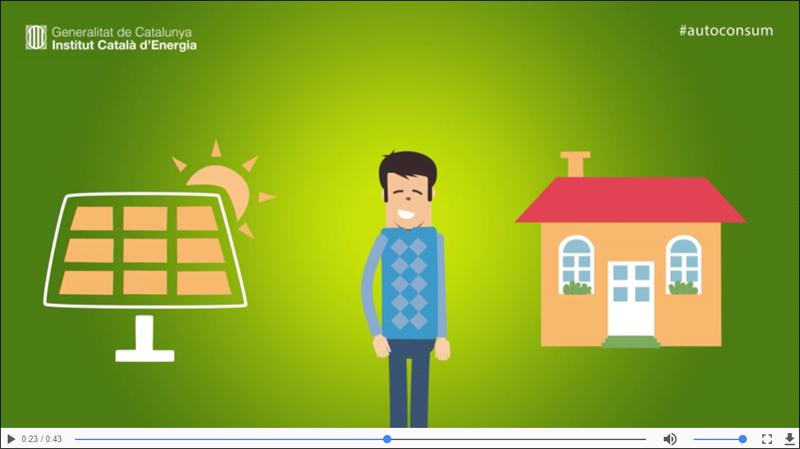 El ICAEN inicia una campaña para que los ciudadanos se animen a aprovechar la energía del Sol para generar electricidad en techos, tejados, terrados y pérgolas de su casa.
