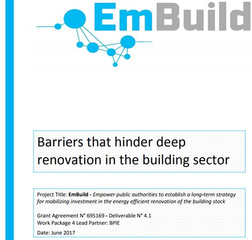 Informesobre las barreras que dificultan la renovación profunda en el sector de la construcción.