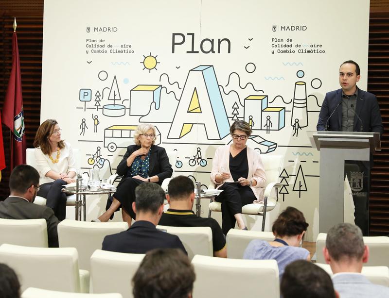 José Manuel Calvo en larueda de prensa presentación Plan A de Calidad del Aire y Cambio Climático.