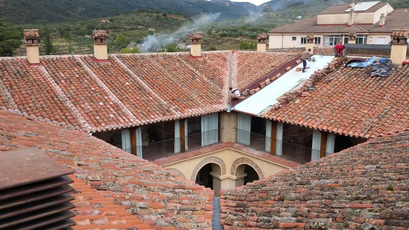 Cubierta de la Histórica Hospedería Valle del Ambroz de Hervás (Cáceres).