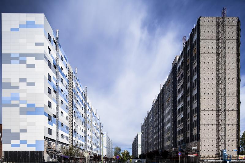 Cuatro edificios rehabilitados en Cornellà de Llobregat incorporan las persianas Griesser para mejorar sus condiciones bioclimáticas.