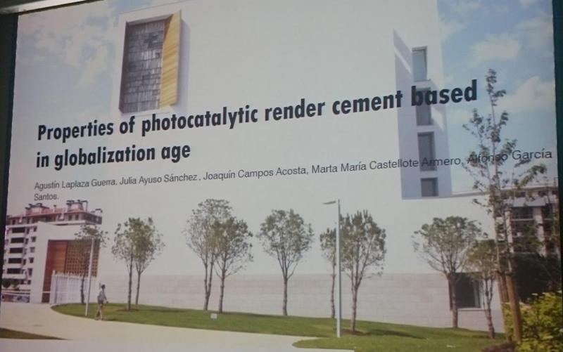 XXIV Congreso Internacional ISUF - Valencia. Presentación de morteros fotocatalíticos para envolventes.