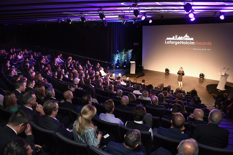 Auditorio de la entrega de los International LafargeHolcim Awards 2017 Europa.