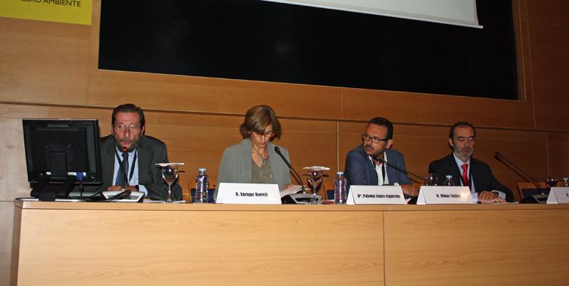 Enrique Borrell, Paloma López-Izquierdo, Dimas Vallina y Pedro Mora.