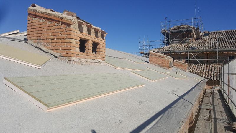 Rehabilitación de los tejados del Parador de Toledo.