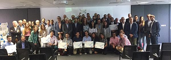 Acto de entrega de los premiosdel II Concurso de Innovación Soluciones Placo.