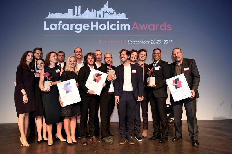 Ganadores de los Premios LafargeHolcim 2017 Europe.