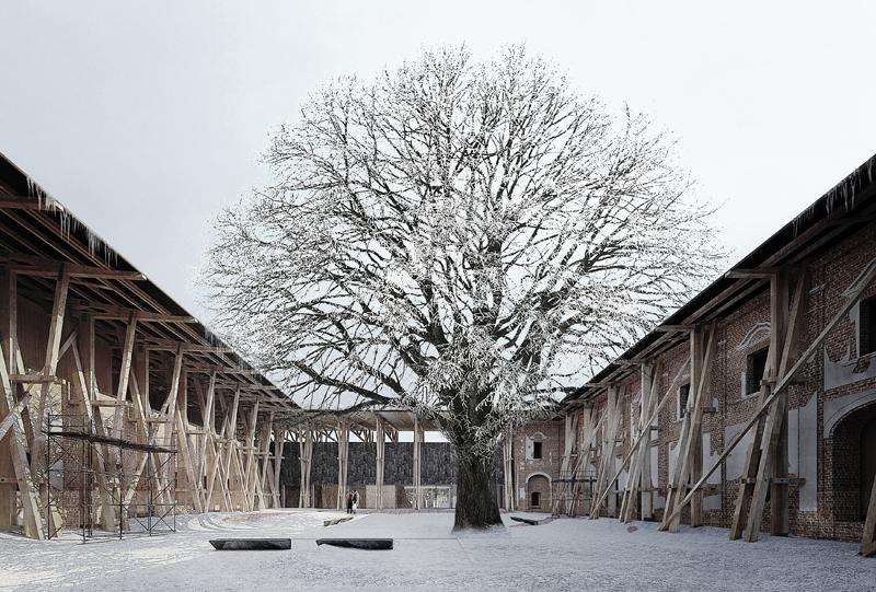 Conversión del monasterio para una facilidad de rehabilitación de adicciones conductuales.