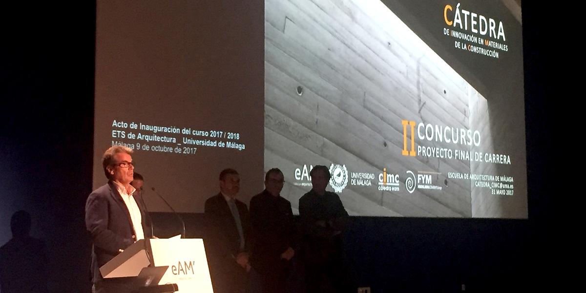Entrega premio al mejor proyecto fin de carrera de for Universidades de arquitectura en espana