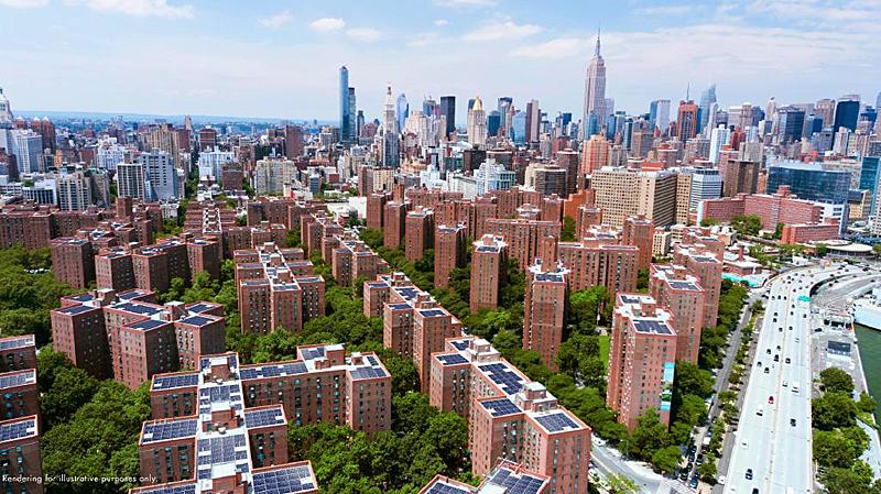 Edificios Stuyvesant Town y Peter Cooper Village en Manhattan.