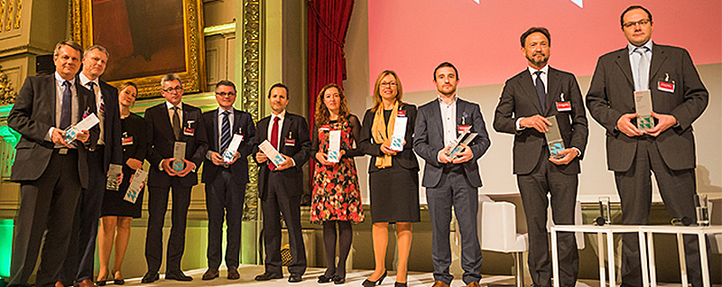 """ACCIONA ha sido galardonada en el<em>""""CDP Europe Awards 2017"""",</em>por su inclusión con la máxima calificación en los índicesCDP Climate 2017 y CDP Water 2017."""