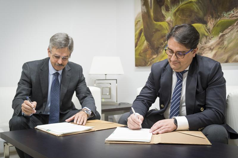 Navarro y Vergeles han suscrito un convenio para impulsar la innovación en el sector de la construcción.