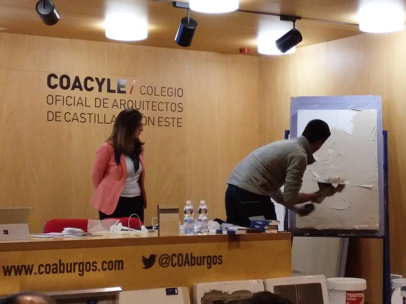 JornadaTécnica sobre Rehabilitación Energética de Fachadas enel Colegio de Arquitectos de Burgos.