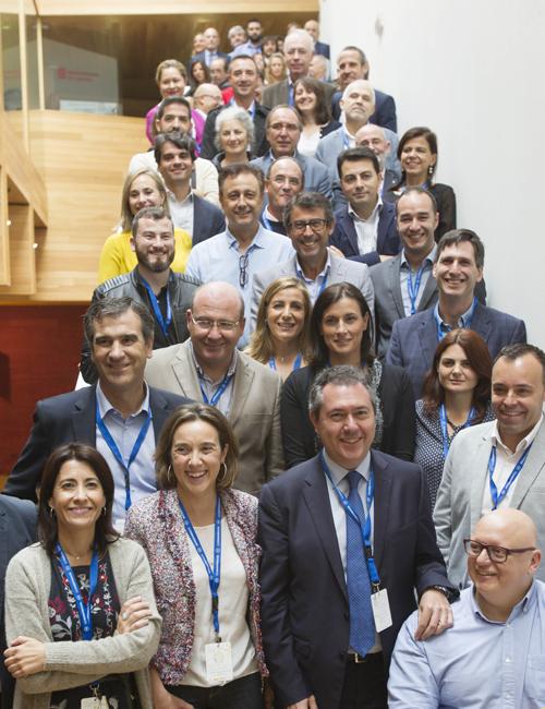 Miembros de la Red Española de Ciudades por el Clima que asistieron a la XI asamblea general de la organización que trabaja en la lucha frente al Calentamiento Global.