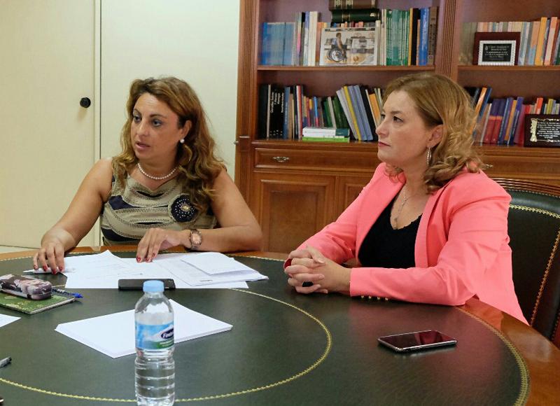 La directora del Instituto Canario de la Vivienda, María del Pino de León, anuncia la inclusión del ARRU Vallehermoso dentro del convenio con el Estado, con una inversión por parte del Gobierno canario destinará 160.000 euros.