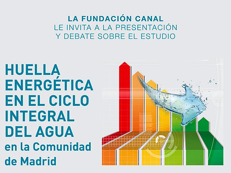 """El 18 de enero se celebrará la presentación del estudio""""Huella energética en el ciclo integral del agua en la Comunidad de Madrid""""."""