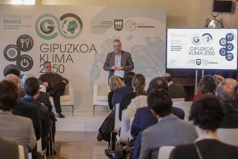 Acto de presentación de Gipuzkoa Klima2050.