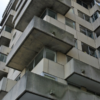 Fachada de bloque de viviendas.