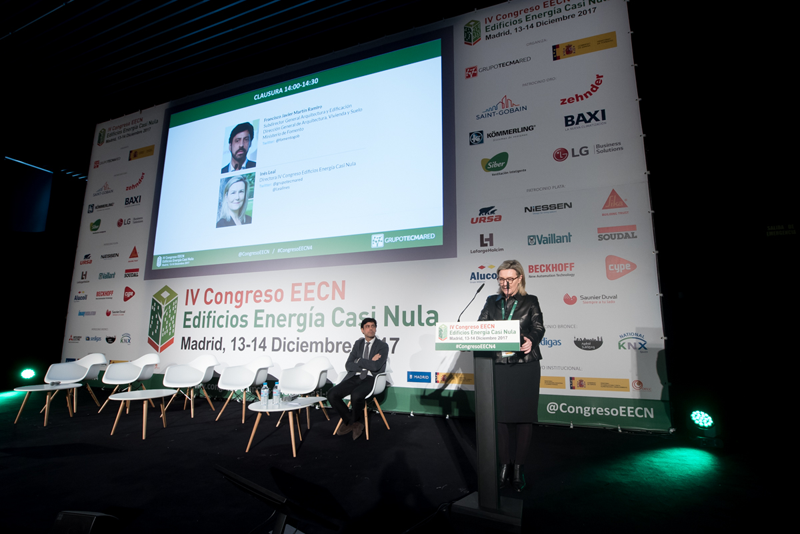 Inés Leal. Clausura IV Congreso Edificios Energía Casi Nula 2017.