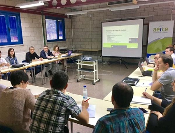 Figura 2. Primera reunión del grupo de trabajo E3CN de AEICE.