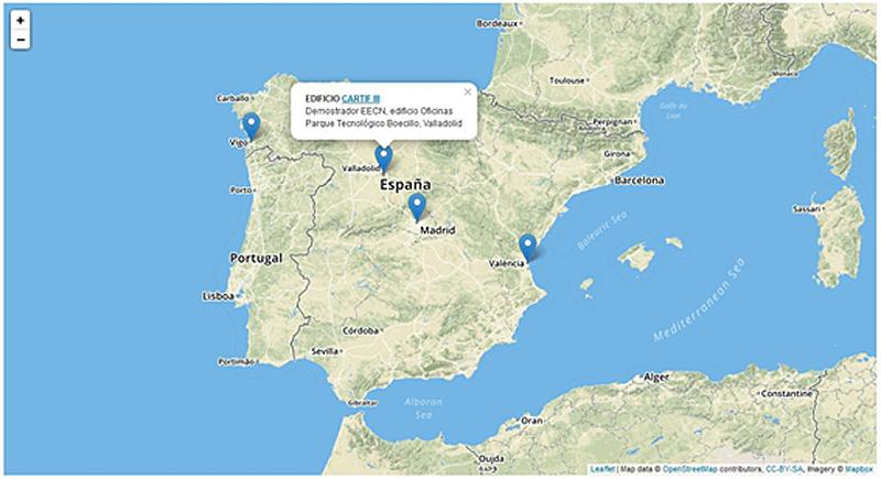 Figura 5. Prueba del mapa interactivo de EECN.