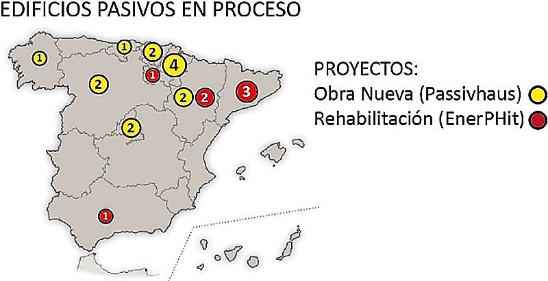 Figura 6. Estado de edificios en proceso de certificación en España (2017).