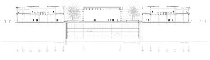Figura 7. Sección del Antiguo Mercado de Frutas y Verduras - Una Rehabilitación a escala urbana.